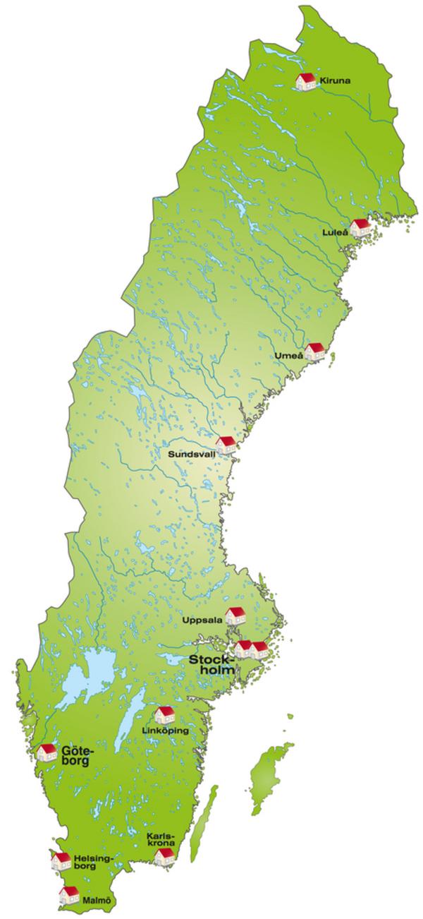 Sverige map