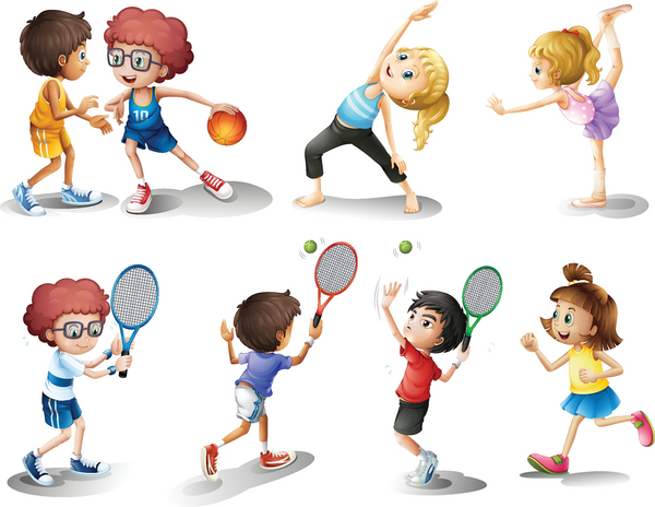 Her kan du se nogle forskellige sportsgrene.